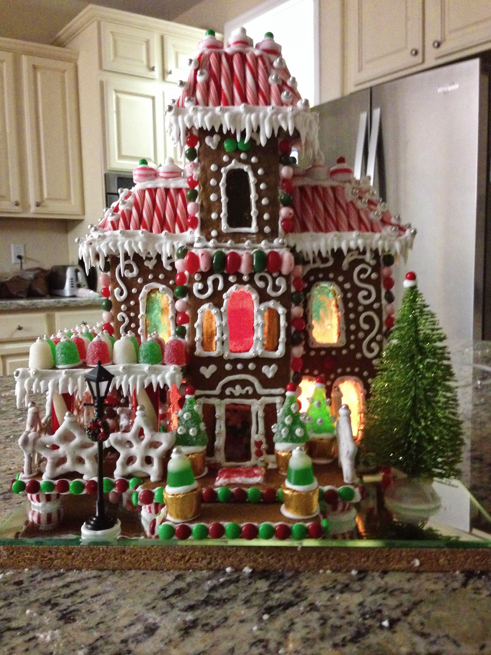 Premade Gingerbread Houses Remodelaholic Gingerbread Houses Tips Tricks Day 7