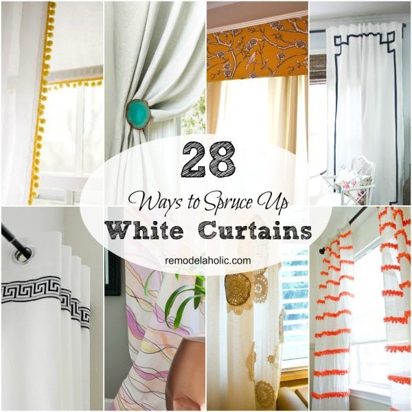 White curtains can be calming and beautiful... or they can feel bland. If you're looking to spruce up plain curtains, try these ideas!