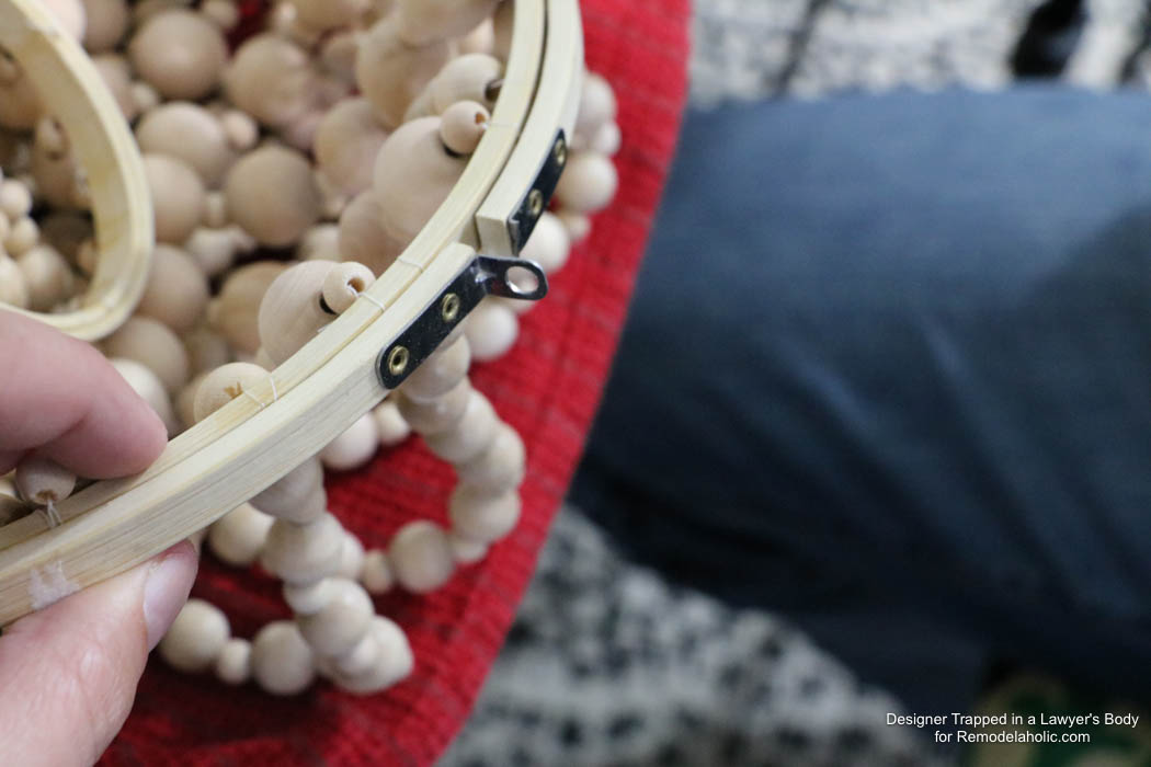 Remodelaholic How to Make a Wood Bead Chandelier