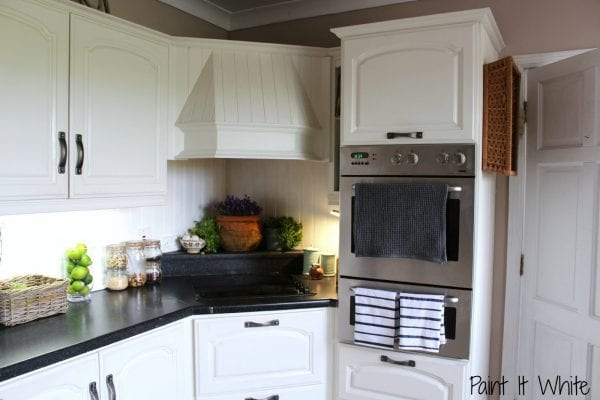 Beautiful white kitchen update with chalk paint for Update white kitchen cabinets