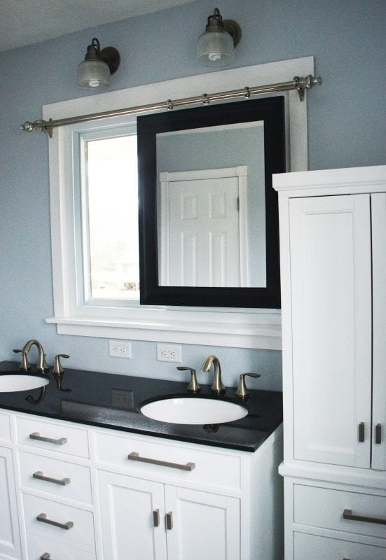 Bathroom Remodel Sliding Mirror Tall Linen Cabinet By Since I Became A Mom