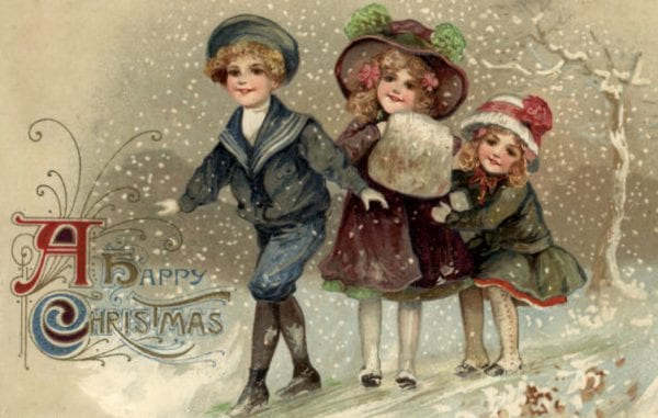 printable vintage Christmas cards and images via Bumble Button on Remodelaholic