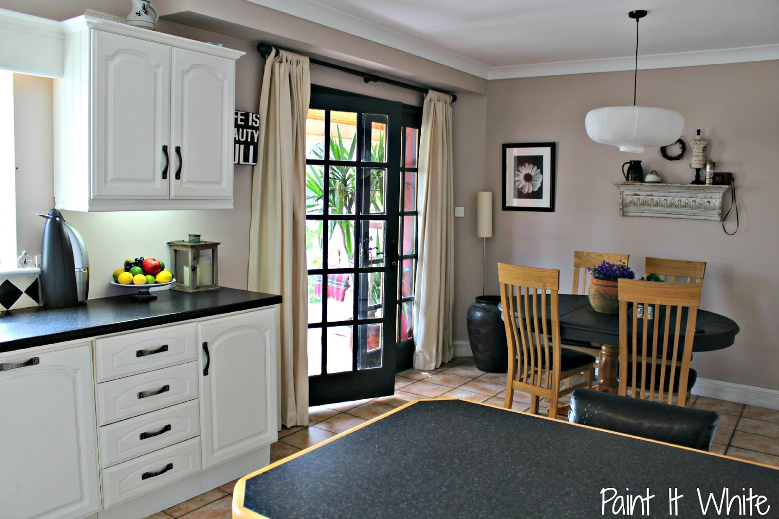 White Kitchen Cabinet Makeover Remodelaholic Beautiful White Kitchen Update With Chalk Paint