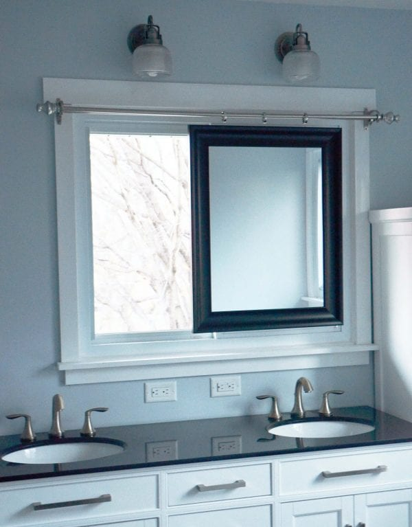 Master Bathroom Remodel With Sliding Mirror Across Window DIY By Since I Became A