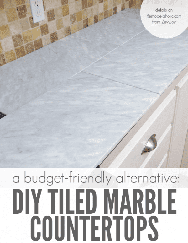 remodelaholic | kitchen mini-makeover with affordable tiled diy
