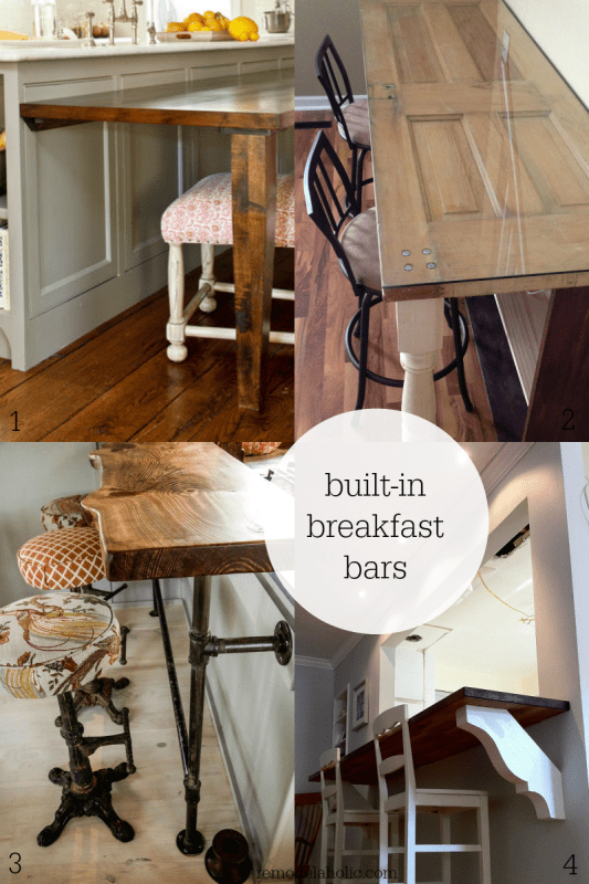 Remodelaholic diy built in breakfast bar dining table for How to build a wall bar