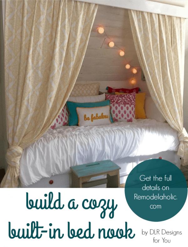 DIY built-in bed nook @Remodelaholic