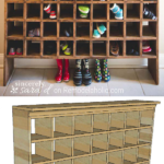 DIY Entryway Organizer Shoe Cubby Shelf Inspired By A Vintage Post Office Mail Sorter, Remodelaholic