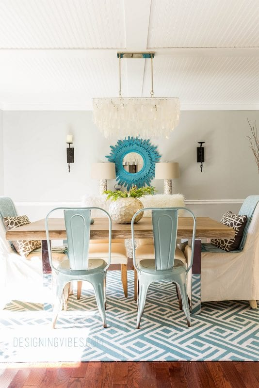 Designing Vibes dining room makeover