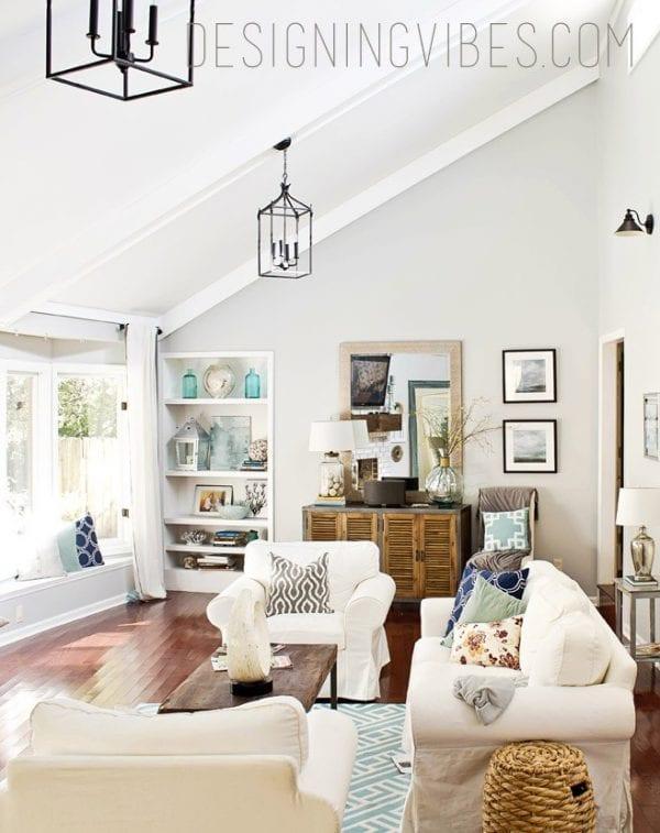 Designing Vibes living room transformation