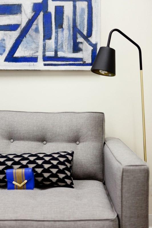 Homepolish Stefani Stein - Michele Marie PR office couch