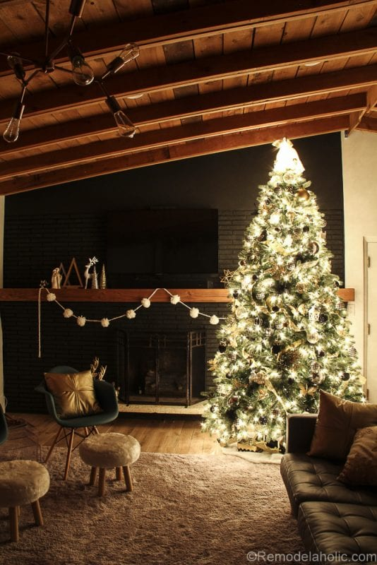Remodelaholic How To Decorate A Christmas Tree Step By Day 8