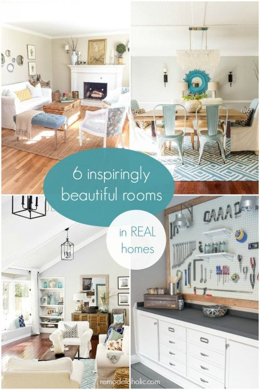 Inspiringly Beautiful Rooms in REAL Homes @Remodelaholic