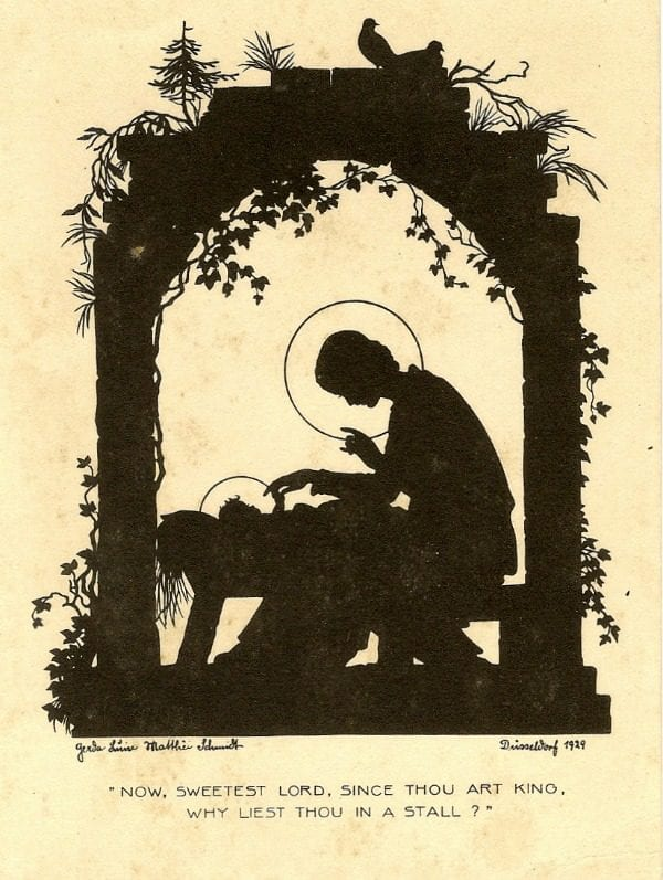 vintage nativity silhouette art print for Christmas, Annie Spratt on Remodelaholic