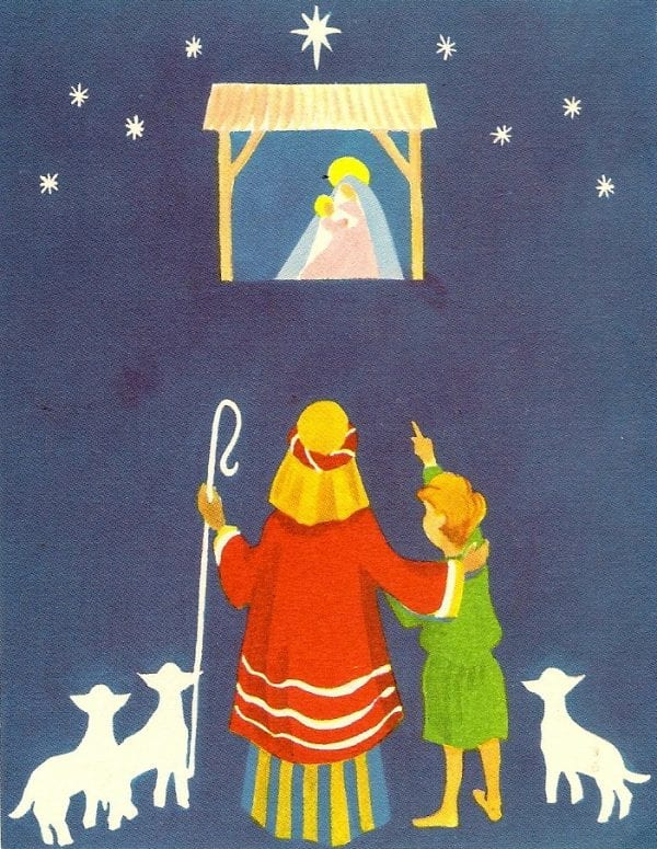 vintage nativity printable image for Christmas. Annie Spratt featured on Remodelaholic