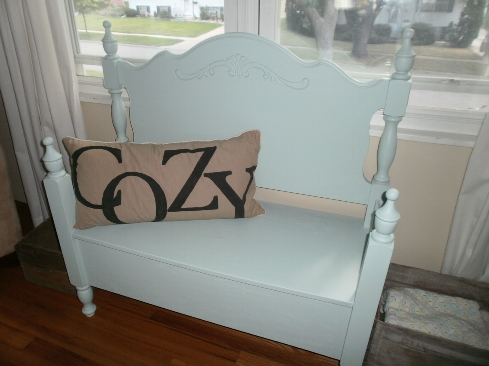 Bench Out Of Headboard Remodelaholic 25 Headboard Benches How To Make Your Own