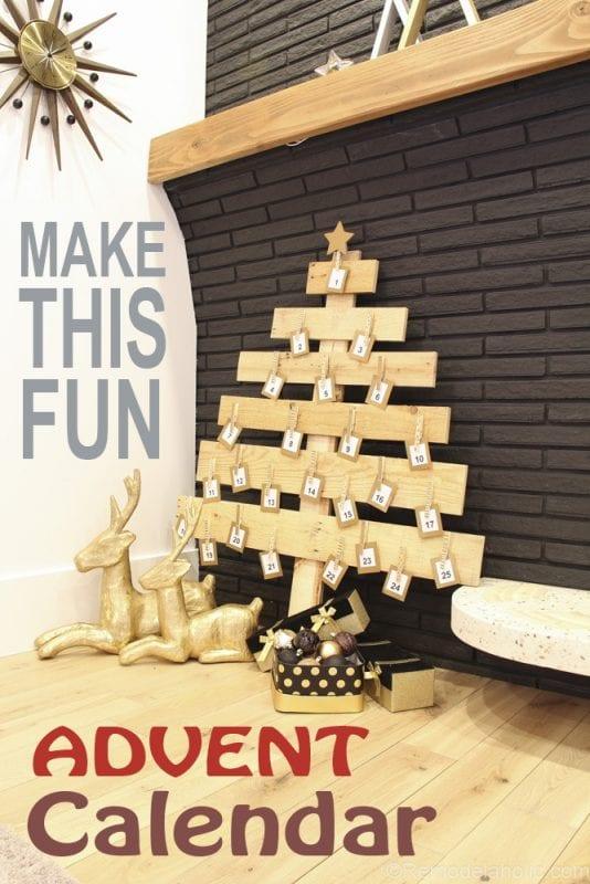 Pallet Wood Christmas Advent Calendar