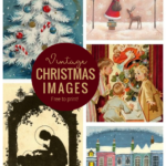 Vintage Christmas Images, Free To Print, From Remodelaholic