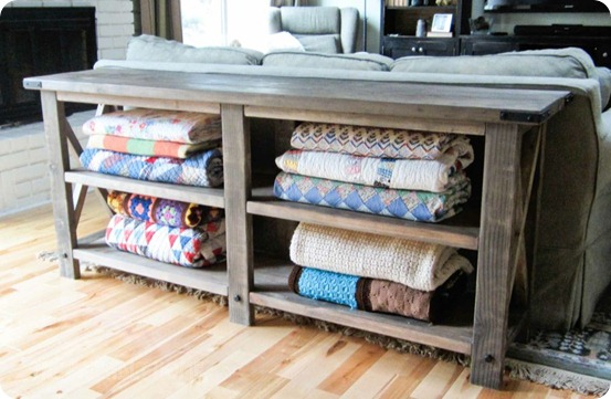 Ordinaire DIY Console Table For Blankets, Great For The Living Room