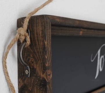 Build A Versatile Wall-Mount Chalkboard Organizer