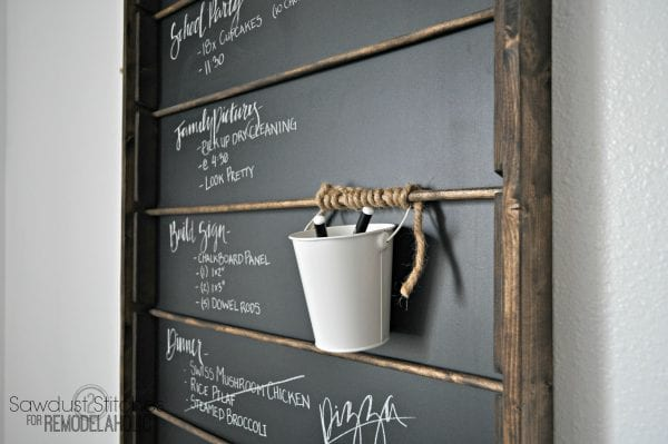 Remodelaholic Build A Versatile Wall Mount Chalkboard