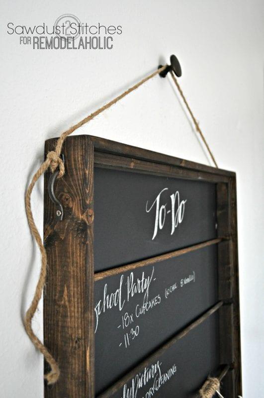 chalkboard organizer for Remodelaholic.com