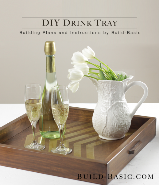 diy wood and gold drink tray Build Basic