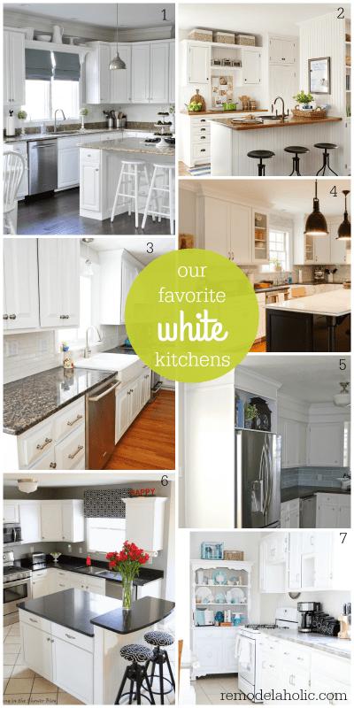 favorite white kitchens @Remodelaholic