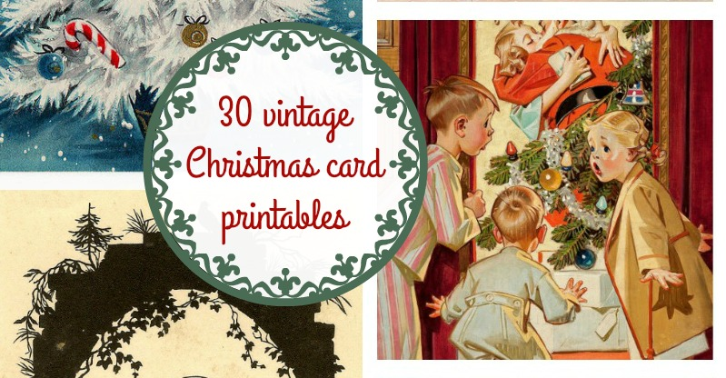 Free Retro Christmas Images