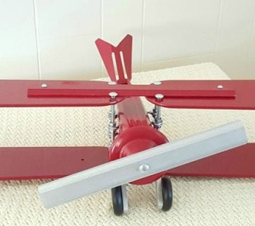 Repurpose Old Ceiling Fan Blades into a Decorative Airplane