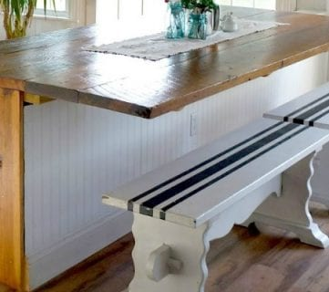 DIY Built-in Breakfast Bar Dining Table