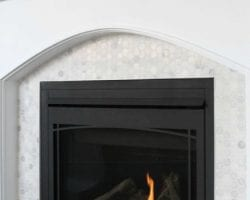 feature tiled fireplace makeover