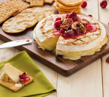 Grilled Brie with Cranberry Orange Sauce