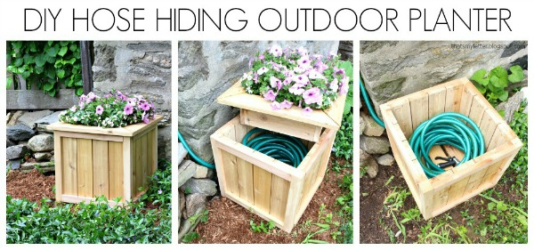 Amazing Hide Hose Outdoor Planter Diy