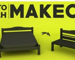 how to turn a bed into a bench @Remodelaholic