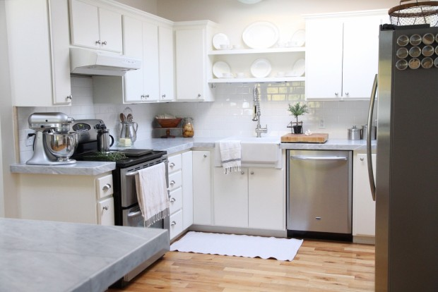 Remodelaholic Kitchen Mini Makeover With Affordable