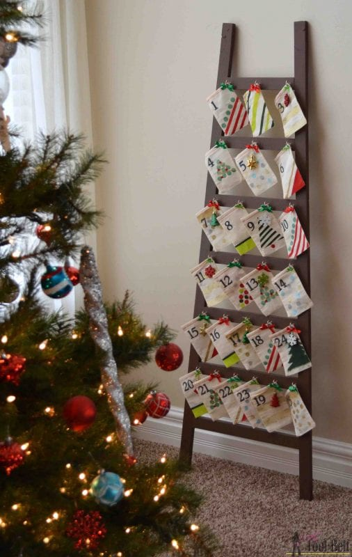 ladder advent calendar, Hertoolbelt