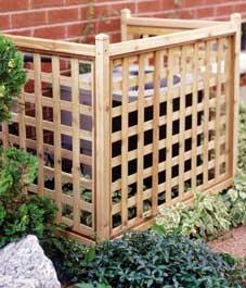 lattice screen hide ac unit