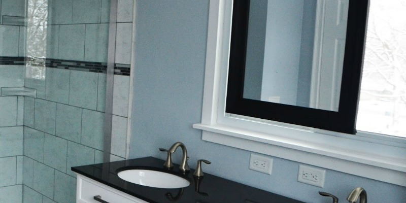 Remodelaholic Master Bathroom Renovation With Sliding Mirror