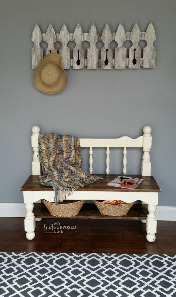 Remodelaholic 25 headboard benches how to make your own for How to make my own headboard