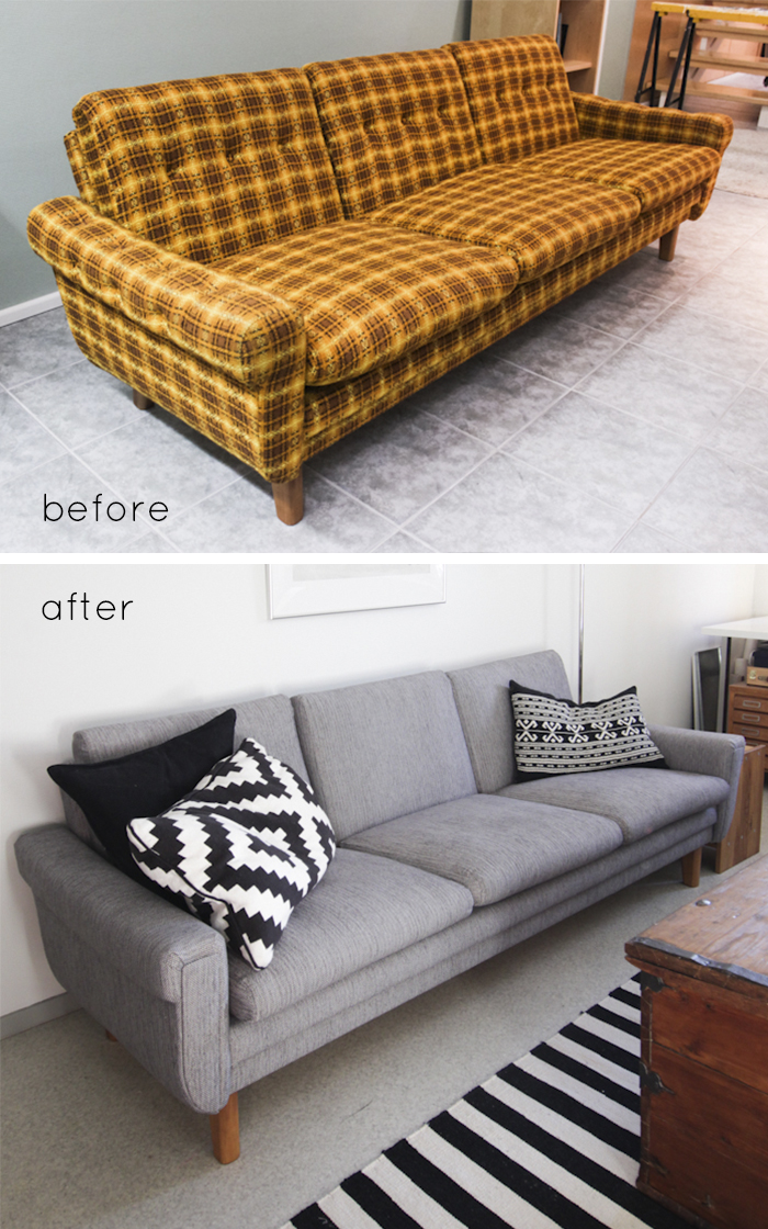 Remodelaholic : 28 Ways to Bring New Life to an Old Sofa