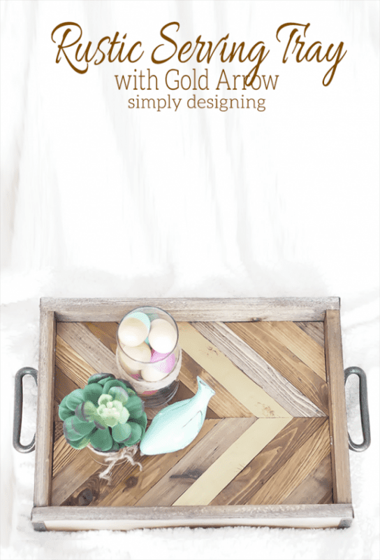 rustic wood tray diy Simply Designing