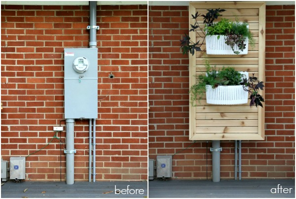 Remodelaholic 13 ways to hide outdoor eyesores for Best electrical panel for house