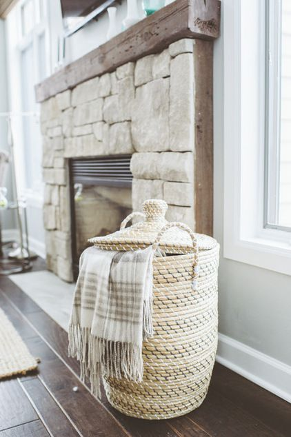 Beautiful basket to store blankets in! Wish I knew where it was from :/