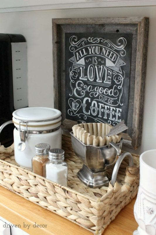 tray to organize a coffee or drink station, Driven By Decor