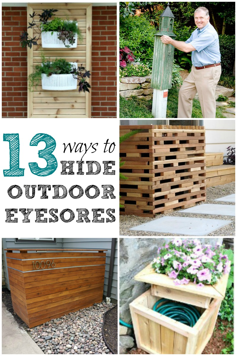 Remodelaholic | 13 Ways to Hide Outdoor Eyesores