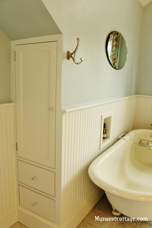 Remodelaholic gorgeous 1920 39 s cottage master bathroom for 1920s bathroom remodel ideas