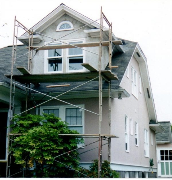 19 Gabled Dormer added to old cottage, real stucco exterior, My Sweet Cottage featured on @Remodelaholic