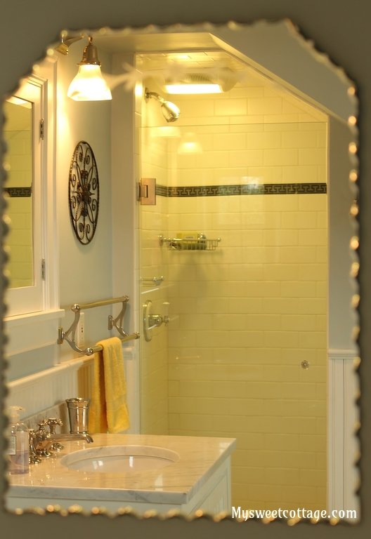 24 Bathroom in dormer window increases functionality and charm of 1920s cottage, My Sweet Cottage featured on @Remodelaholic