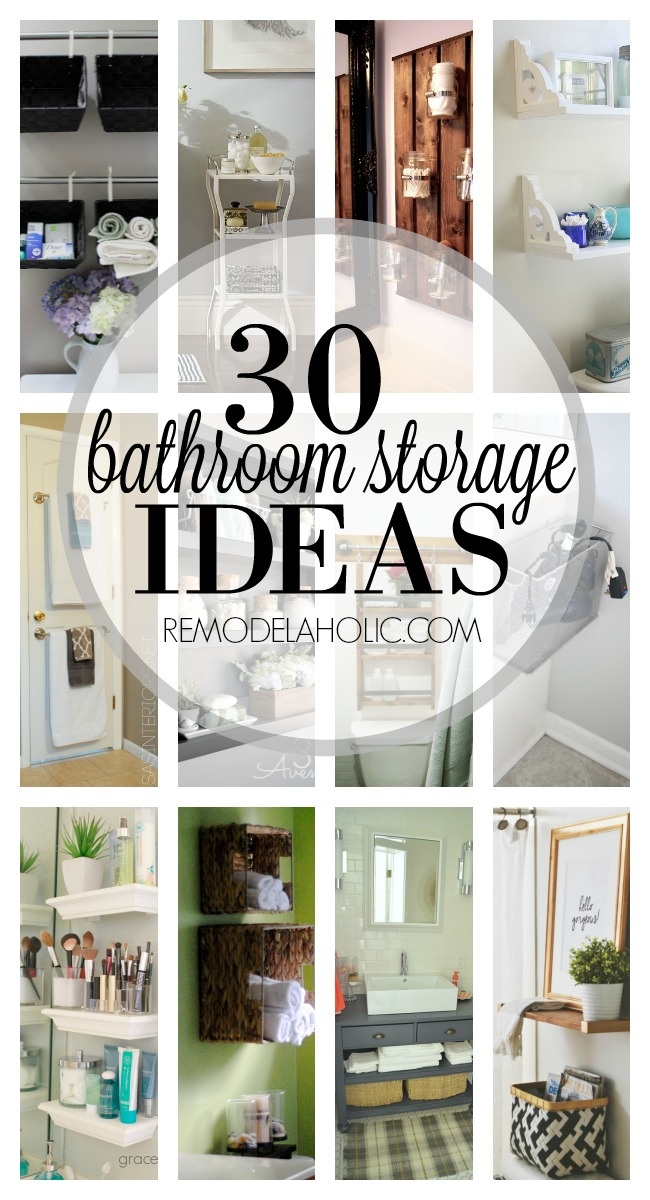 Remodelaholic 30 Bathroom Storage Ideas